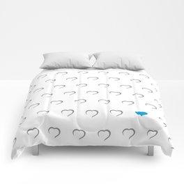Hearts - Blue Comforters