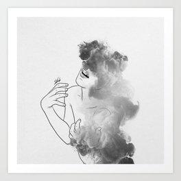 War of thoughts. Art Print