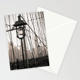 New York City's Brooklyn Bridge - Black and White Photography Stationery Cards