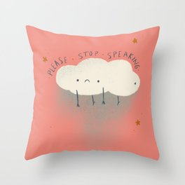 Shh Cloud Throw Pillow