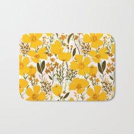 Yellow roaming wildflowers Bath Mat