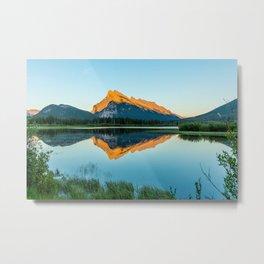 Mount Rundle at Sunset Metal Print