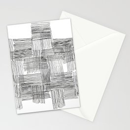 Parallel and perpendicular pencil lines Stationery Cards