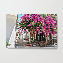 Pnk Garden in Paros Island Metal Print