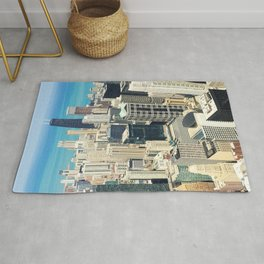 Chicago Buildings Color Photo Rug