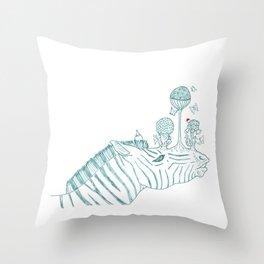 Zebra playground Throw Pillow