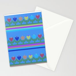 Childish Embroidered Flowers Stationery Cards