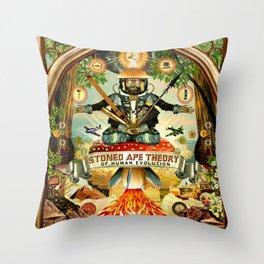 Stoned Ape Theory Throw Pillow