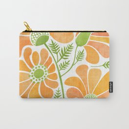 Happy California Poppies / hand drawn flowers Carry-All Pouch