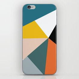 Triangles abstract colorful art iPhone Skin