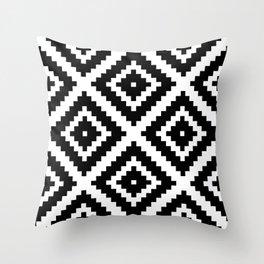 Aztec Diamond Geometric Pattern Throw Pillow