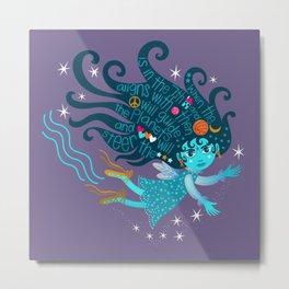 Aquarius Fairy Metal Print