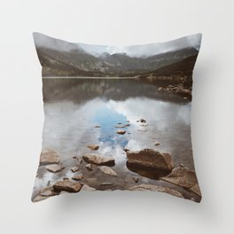 Mountain Lake - Landscape and Nature Photography Throw Pillow