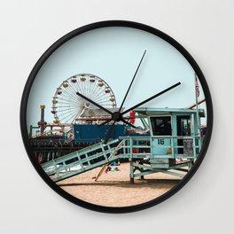 Santa Monica Beach Travel Artwork Wall Clock