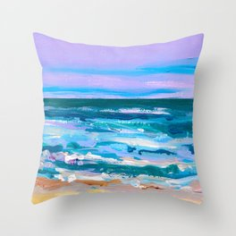 Wave. Beach Painting Series No.12 Throw Pillow