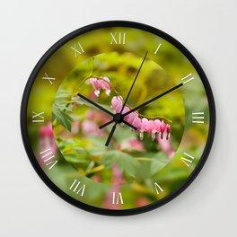 Lamprocapnos spectabilis heart flower Wall Clock