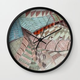 Meandering Landscapes: Welcoming Pathway Wall Clock
