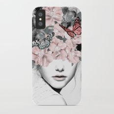 WOMAN WITH FLOWERS 10 iPhone X Slim Case