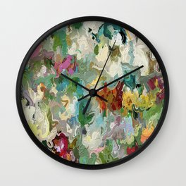 Abstract Flowers 1946 Wall Clock