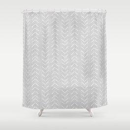 Mudcloth Big Arrows in Grey Shower Curtain