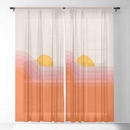 Strawberry Dipper Sheer Curtain