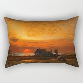 Coastal Landscape Late August Sunset Rectangular Pillow