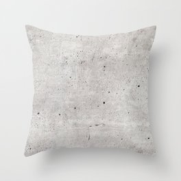 Smooth Concrete Small Rock Holes Light Brush Pattern Gray Textured Pattern Throw Pillow