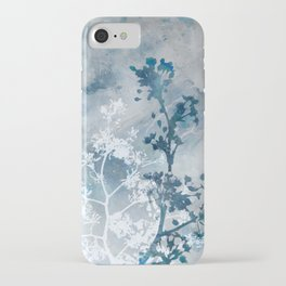 Blue Floral Botanical Watercolor Painting iPhone Case