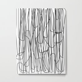 Abstract Line No. 68 Metal Print
