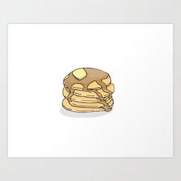 Pancakes for Dinner Art Print