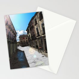 Calle Mayor (color) Stationery Cards