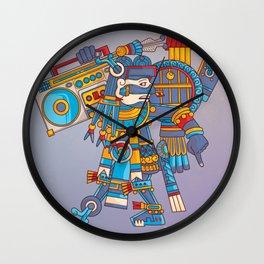 Tezcatlipoca De La Noche Wall Clock