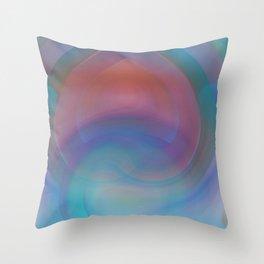 Retro Nouveau Throw Pillow