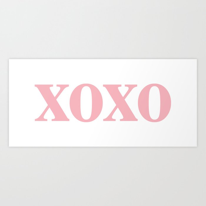 Coral XOXO Kunstdrucke