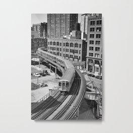 Brown Line Metal Print