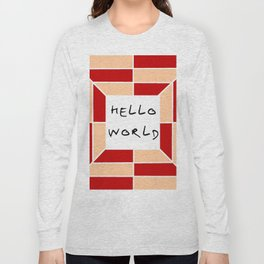 hello world 3 Long Sleeve T-shirt