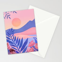 Hawaiian Sunset / Tropical Landscape Stationery Cards