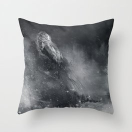 Finrod crossing the Helcaraxe Throw Pillow