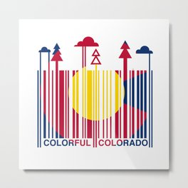 Colorful Colorado Barcode Flag Metal Print