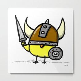 Viking Chick Metal Print
