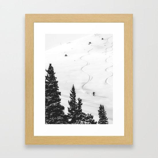 Backcountry Skier // Fresh Powder Snow Mountain Ski Landscape Black and White Photography Vibes by byrdonwheels