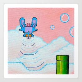 "'Valium' 12"" x 12"" Acrylic and Marker on Canvas 2012 Dan Gribben Art Print"