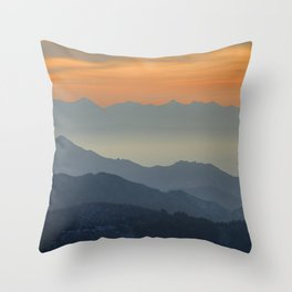 """""""Sunset at the mountains"""". Dreaming... Throw Pillow"""