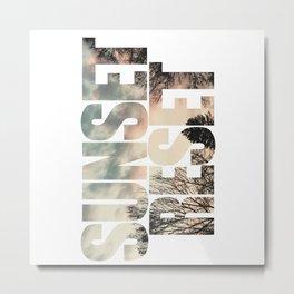Sunset Reset - Inspirational Graphic Design Metal Print
