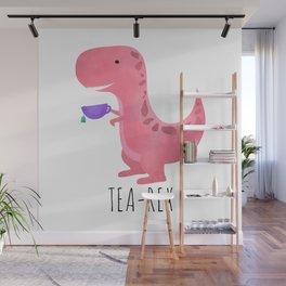 Tea-Rex | Pink Wall Mural