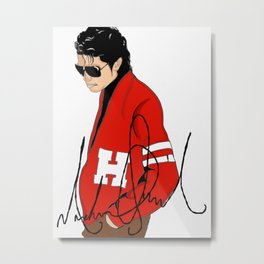 MJ too Cool Metal Print
