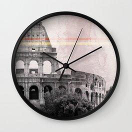 Colosseum Rome Italy Wall Clock