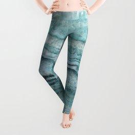 Mystic Stone Aqua Teal Leggings