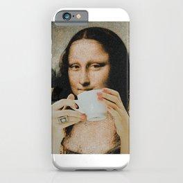 mona lisa x her espresso iPhone Case