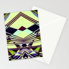 SWEEPING LINE PATTERN I-E4A Stationery Cards
